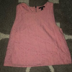 Pink Lacey tank top